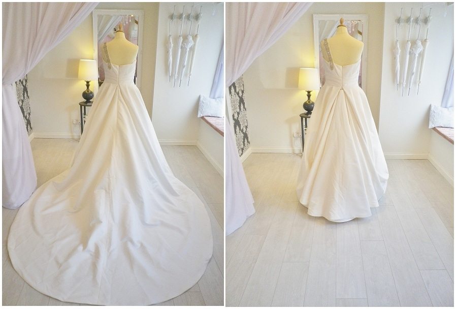 satin and lace save your train add a bustle Wedding Dress Bustles