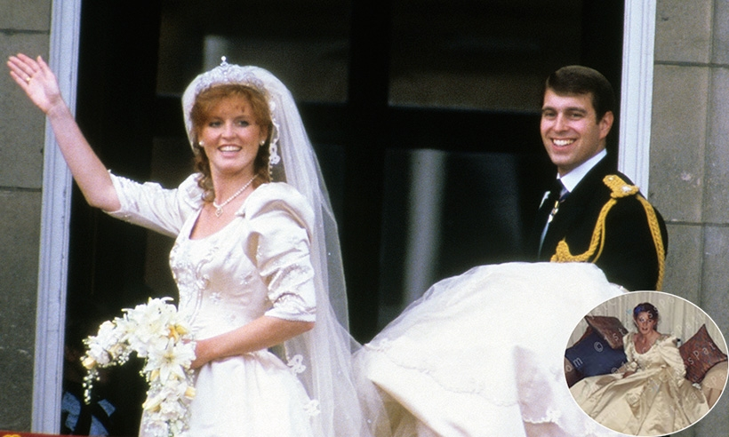 see these unearthed photos of sarah fergusons wedding dress Sarah Ferguson Wedding Dress