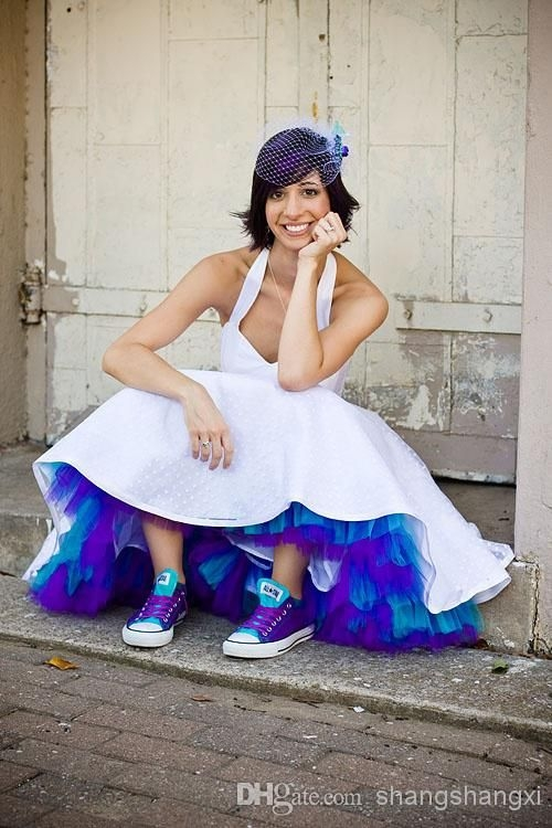 short wedding with colored petticoat google search Colored Petticoats For Wedding Dresses