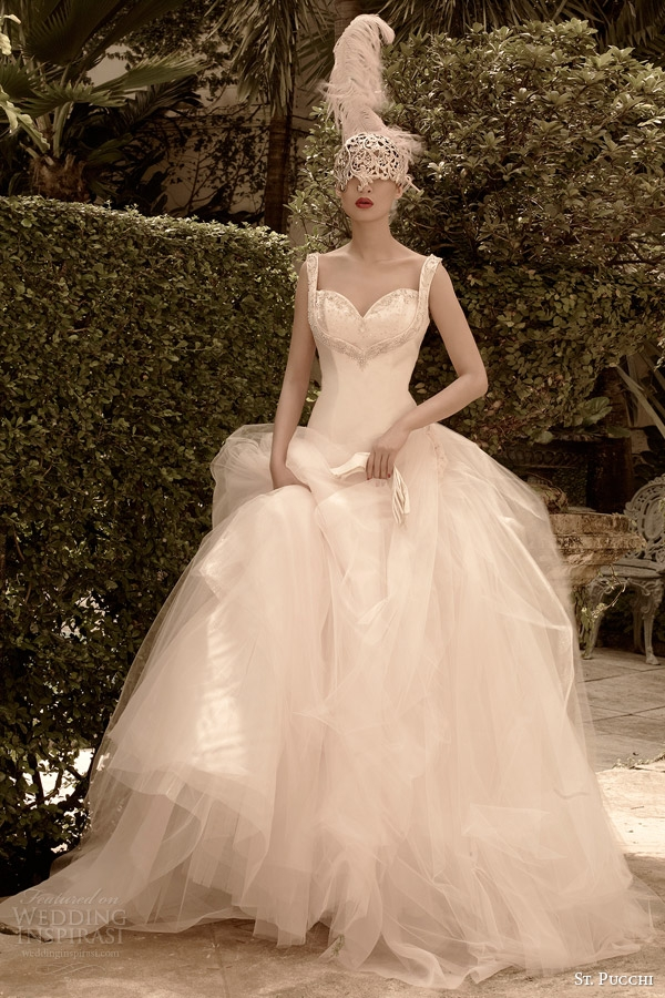 st pucchi 2014 2015 couture bridal collection interview St Pucchi Wedding Dress