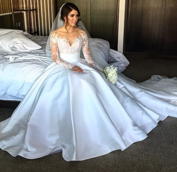 steven khalil custom made 2 piece dress wedding dress on sale Steven Khalil Wedding Dresses