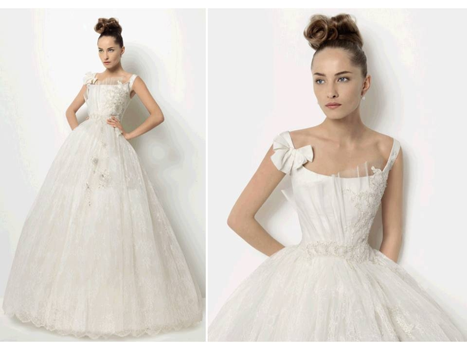 stunning christian lacroix corseted ballgown wedding dress Christian Lacroix Wedding Dresses