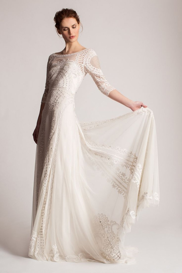temperley 2016 wedding gowns beautiful detail for brides Alice Temperley Wedding Dresses