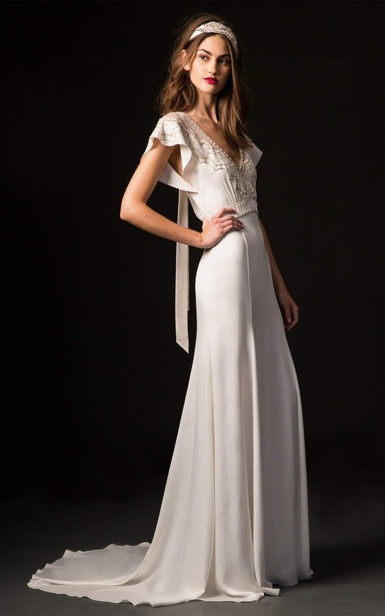 temperley london bridal celeste gown with embroidered bodice Temperley London Wedding Dress