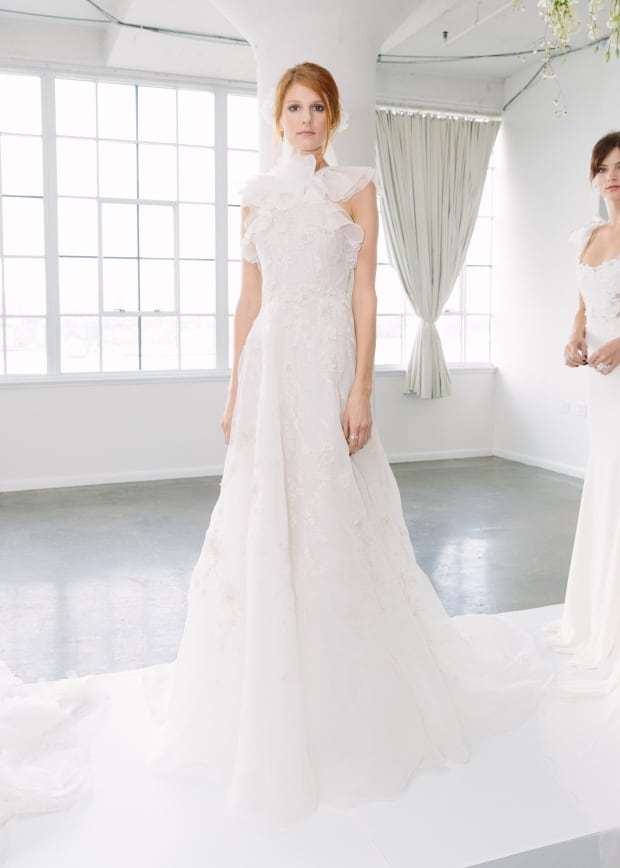 the 11 most beautiful bridal trends for fall 2018 fashionista Marchesa Wedding Dress Pretty
