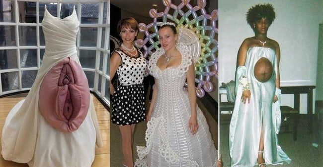 the absolute weirdest wedding dresses ever banana cookies Weirdest Wedding Dresses