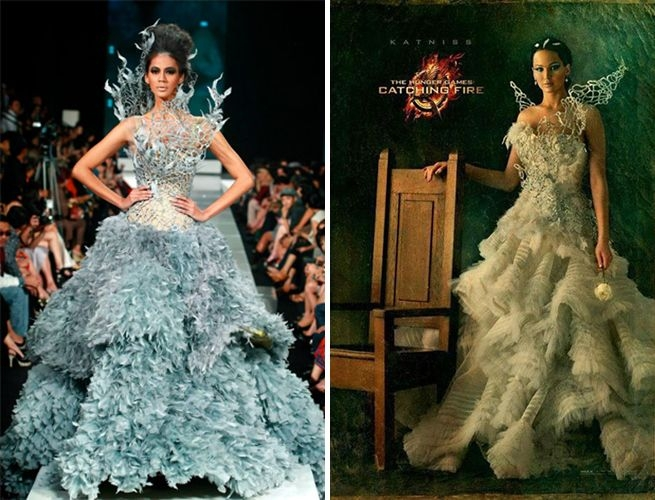 the designer of katnisss wedding dress in the hunger games Katniss Wedding Dress