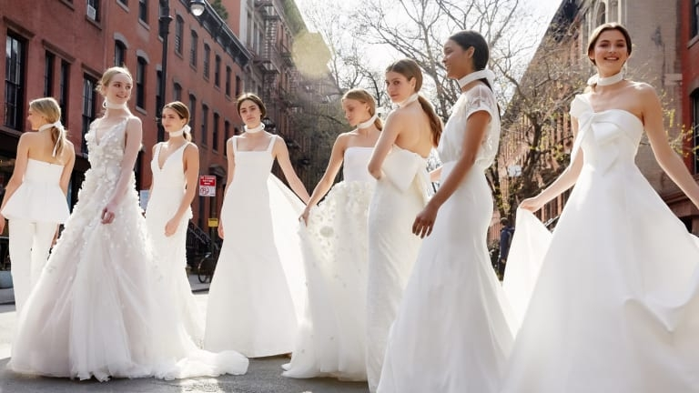 the meghan markle effect is already all over the spring 2019 Lela Rose Wedding Dress s