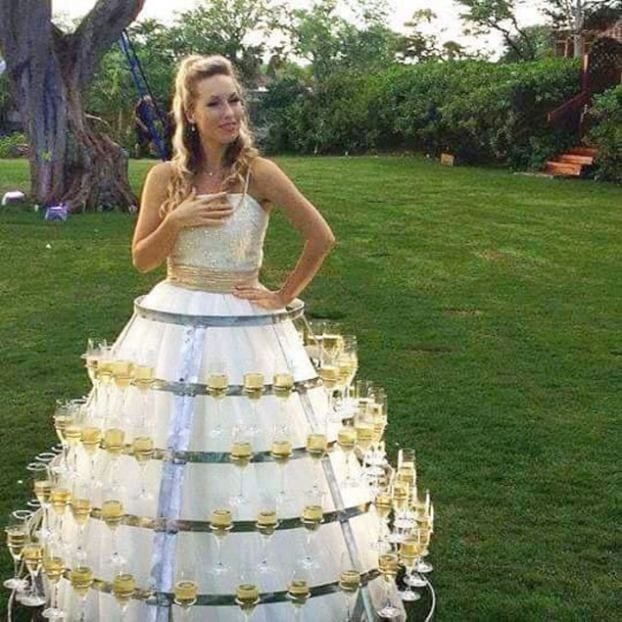 the most ridiculous bridesmaids dresses ever university fox Most Outrageous Wedding Dresses