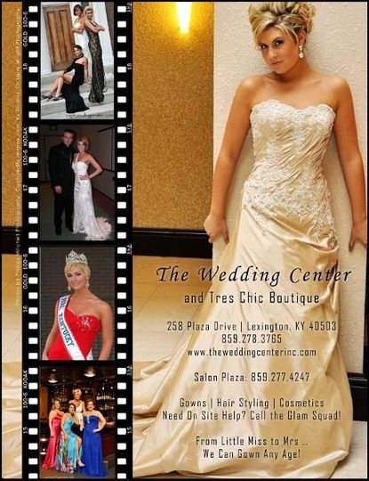 the wedding center inc tres chic boutique and salon plaza Wedding Dresses In Lexington Ky