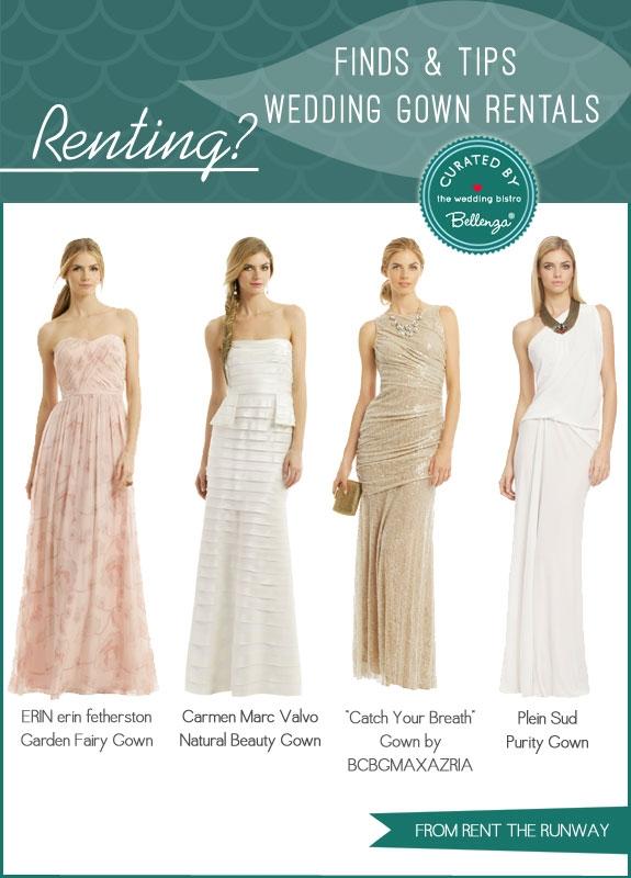 thinking of renting your wedding dress finds and tips Rented Wedding Dresses