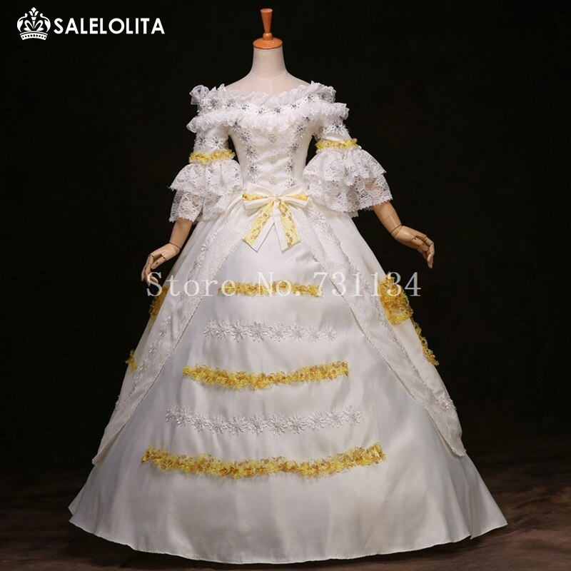 us 1450 brand new white lace marie antoinette dress 17th 18th century wedding party dress rococo medieval renaissance gowns for women in dresses 18th Century Wedding Dresses