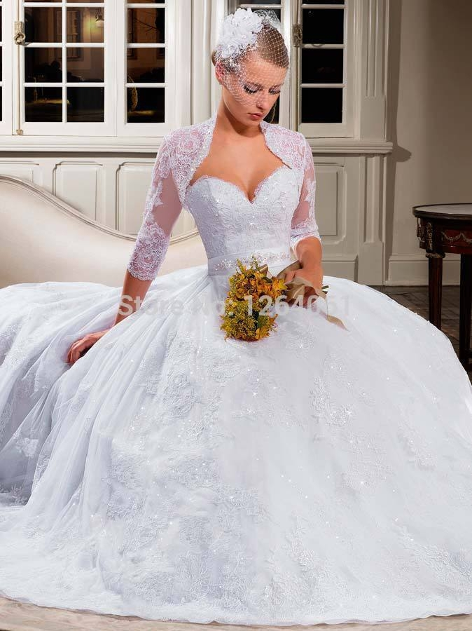us 2180 free lace bolero jacket 2013 new sweetheart lace ball gown wedding dresses tulle applique beaded sash bridal gown lt31 in wedding dresses Shrugs For Wedding Dresses