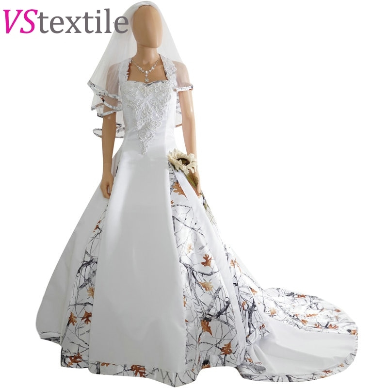 us 2180 halter white camouflage wedding dresses 2019 camo bridal gowns with veil vestido de noiva custom make size free shipping in wedding dresses Snow Camo Wedding Dress