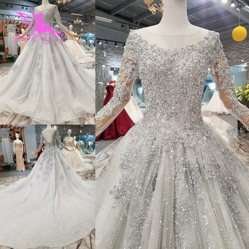us 3900 50 offaijingyu nova wedding dress couture bridal gowns country tulle long woman 2018 customs newest gown hijab satin wedding dresses in Wedding Dresses Aliexpress