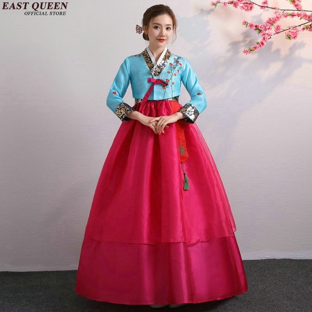 us 495 45 offkorean hanbok wedding dress cosplay performance korean traditional dress style clothing gown costume national hanbok aa4006 in asia Korean Hanbok Wedding Dress