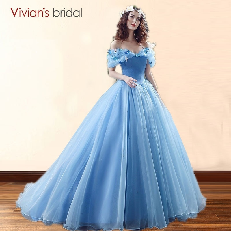 us 9265 15 offmovie deluxe adult cinderella wedding dresses blue cinderella ball gown wedding dress bridal dress 26240 in wedding dresses from Cinderellas Wedding Dress