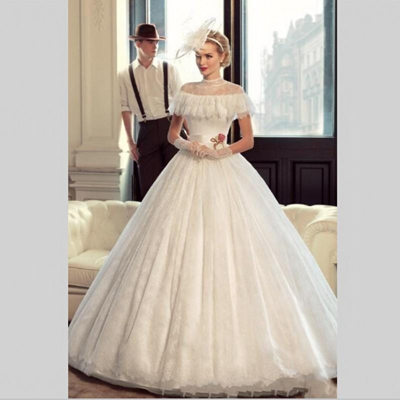 vestido de noiva princesa luxo cheap bridal dress vintage lace cinderella wedding gown ball gown china wedding dresses 2018 Cinderellas Wedding Dress