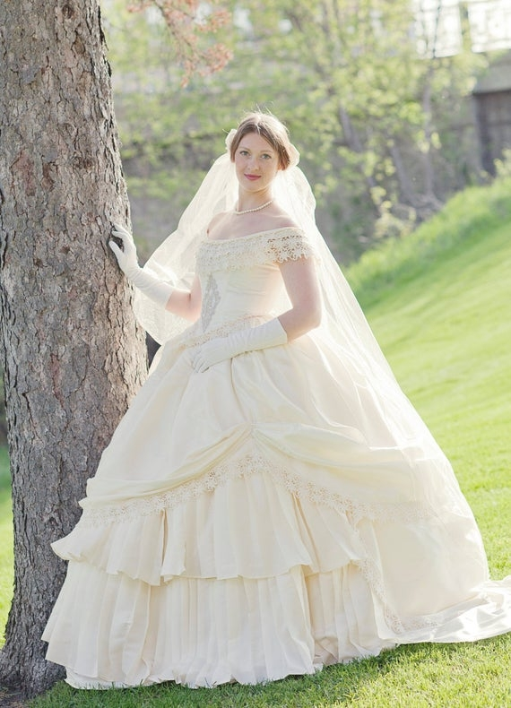 victorian wedding dresses shoes accessories 1800s Wedding Dresses