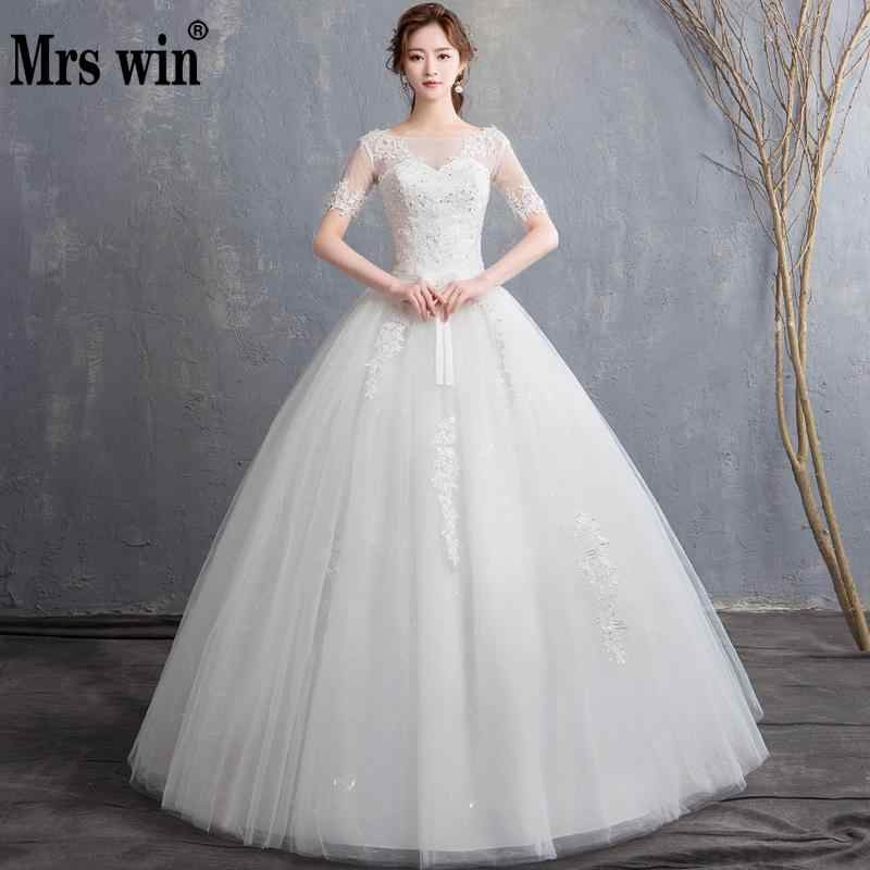 vintage sexy lace wedding dress short sleeve o neck princess ball gown wedding dresses lace up china bridal gowns Wedding Dresses Aliexpress