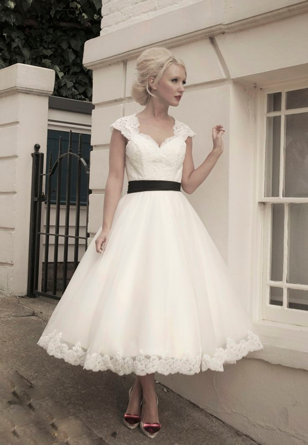 vintage wedding dress ideas Fifties Style Wedding Dress