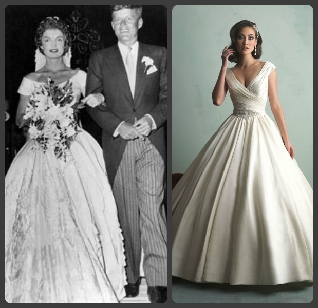 walking down the isle in style with jackie kennedy inspired Jacqueline Kennedy Wedding Dress