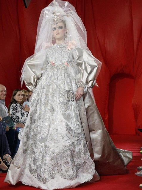 wedding dress in russian imperial style christian lacroix Christian Lacroix Wedding Dresses