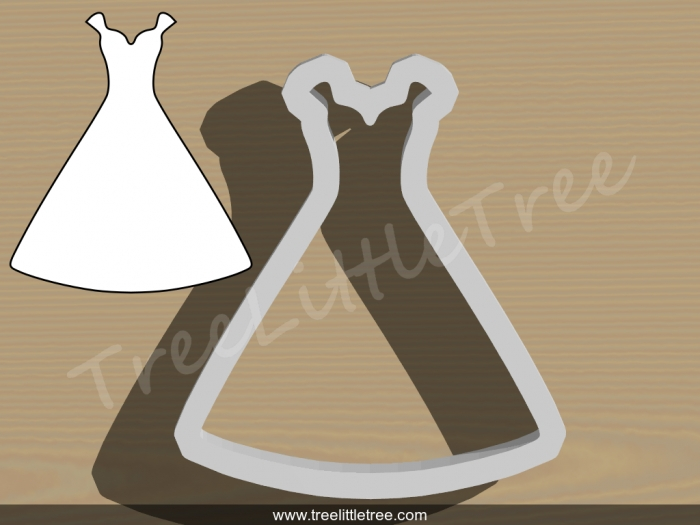 wedding dress style 3 cookie cutter wedding cookie cutter Wedding Dress Cookie Cutter