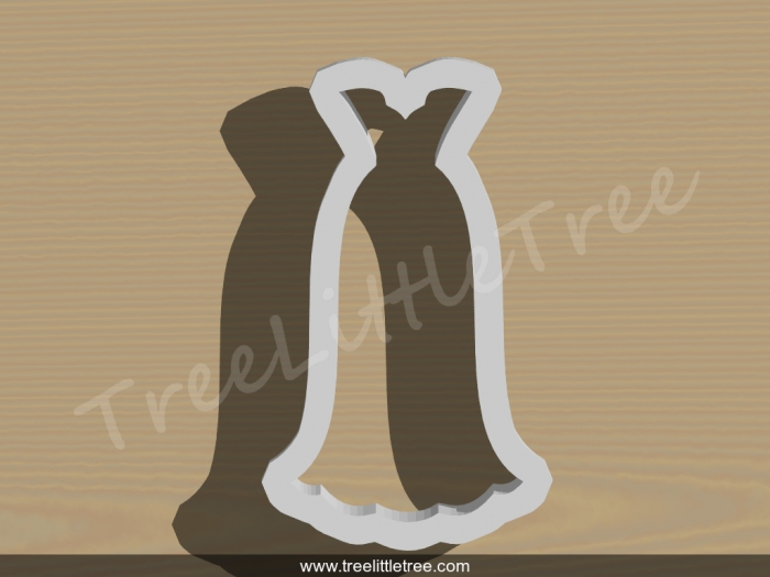 wedding dress style 6 cookie cutter wedding cookie cutter Wedding Dress Cookie Cutter