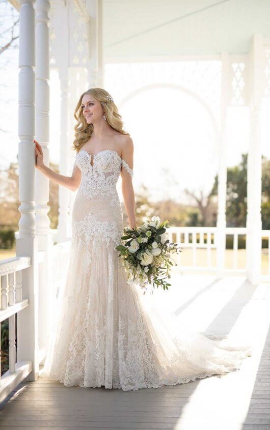 wedding dress with handcrafted lace martina liana Martina Liana Wedding Dress