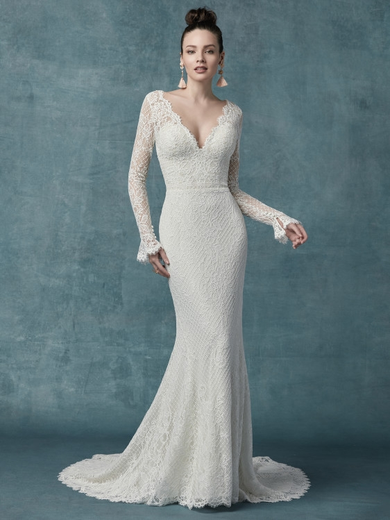 wedding dresses and gowns with sleeves maggie sottero Pretty Maggie Sottero Wedding Dresses