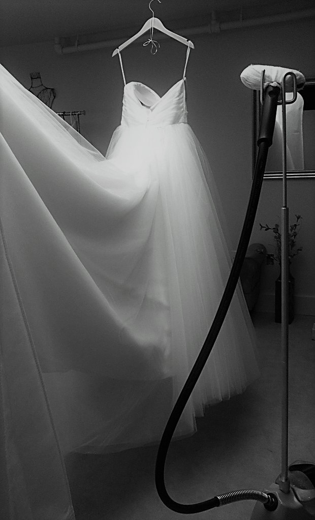 wedding gown steaming anne gregory bridal Wedding Dress Steaming