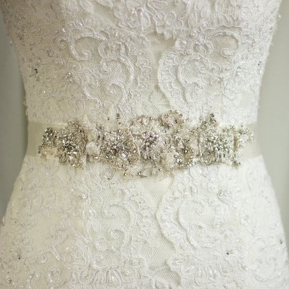 wedding sash lace belt rhinestone sash wedding dress belt Rhinestone Sashes For Wedding Dresses
