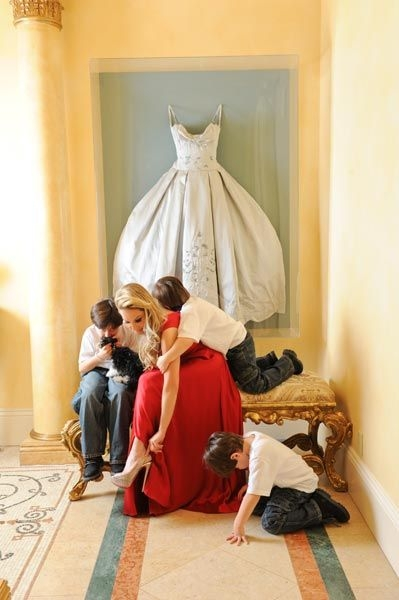 what a neat idea for your wedding dress wouldnt fit in my Adrienne Maloof Wedding Dress