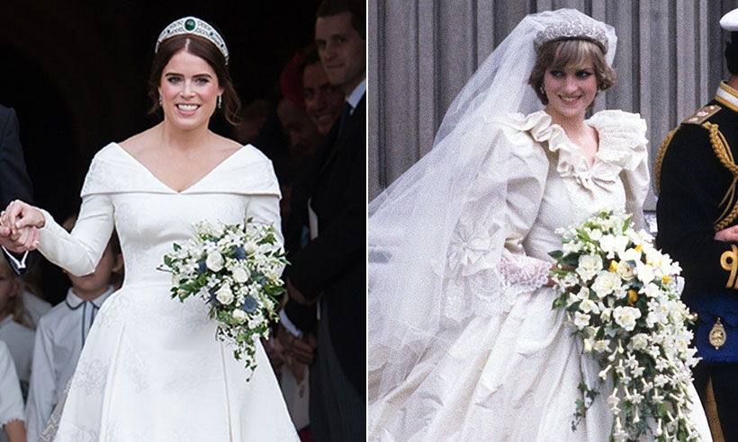 what eugenie and dianas wedding dresses have in common hello Dianas Wedding Dress