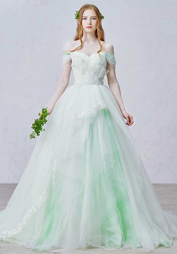 whats the meaning of red blue green or pink in colored Wedding Dress Color Meanings