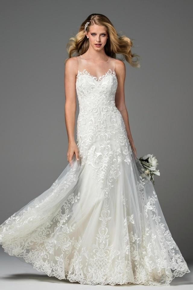 wtoo ivoryoyster lace dame 2074b feminine wedding dress size 8 m 39 off retail Wtoo Wedding Dresses