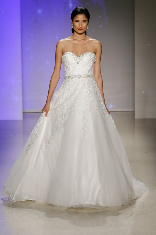 your first look at the 2017 disney wedding gowns from alfred Alfred Angelo Disney Wedding Dress
