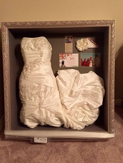 30 ways to display your wedding dress and accessories Storing Wedding Dress