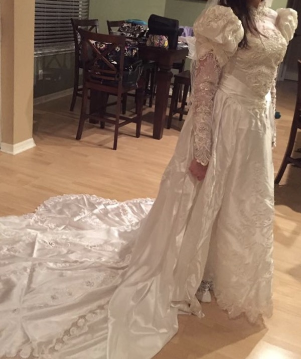 a donated wedding dress and angel wraps and gowns gfwc Donated Wedding Dresses