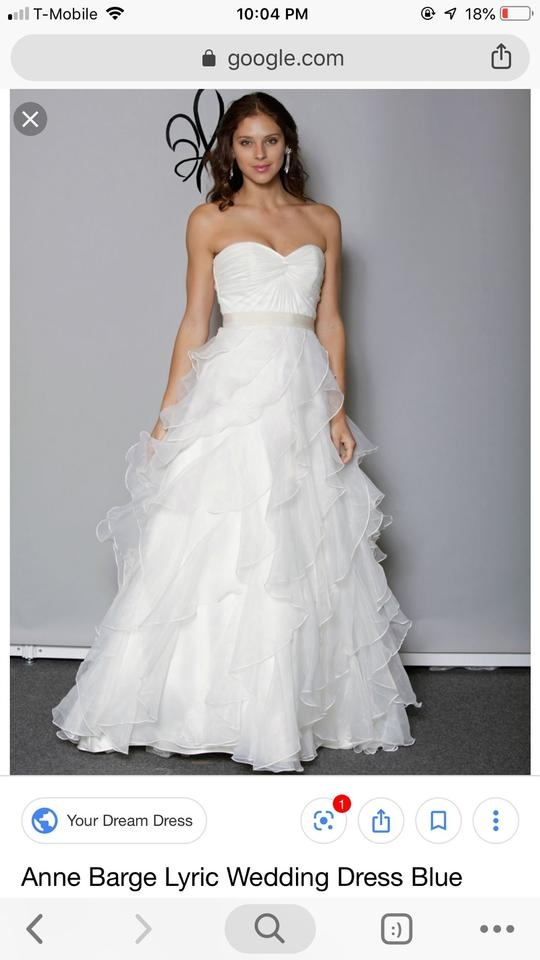 anne barge blue willow lyric formal wedding dress size 8 m 90 off retail Anne Barge Wedding Dresses