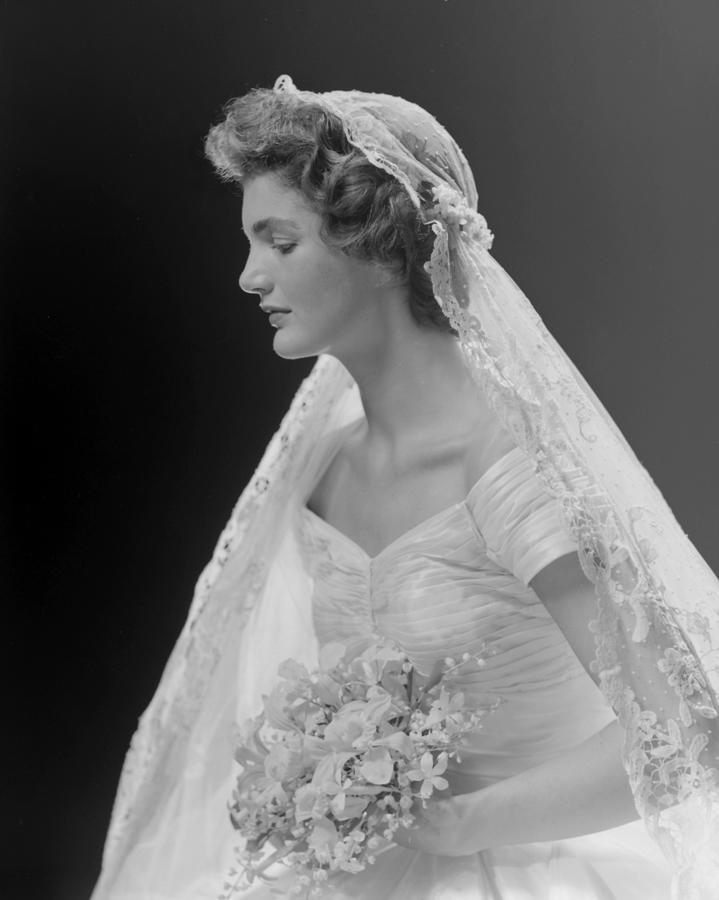 bridal portrait oof jacqueline bouvier Jacqueline Bouvier Wedding Dress