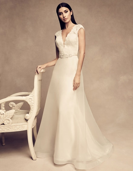 buying a wedding gown for your body shape pear paloma blanca Wedding Dresses For Pear Shape
