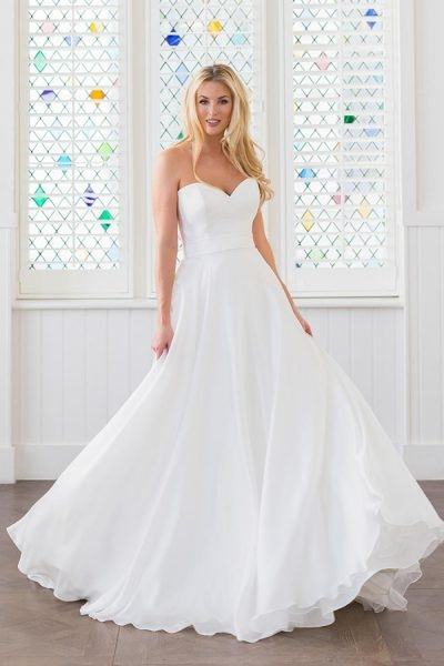 classic a line wedding dress Augusta Jones Wedding Dresses