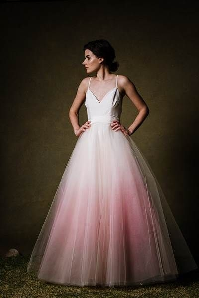 dip dyed wedding dresses are the gorgeous new bridal trend Wedding Dress Dyeing Service