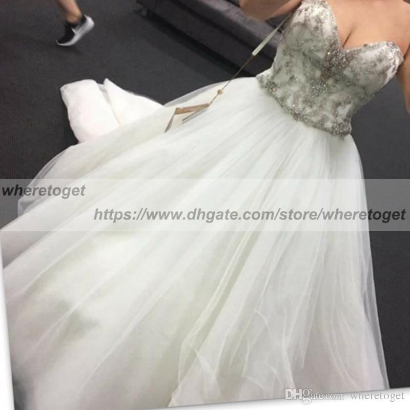 discount modest 2019 corset wedding dresses plus size lace up bling crystals arabic vintage country a line sweetheart wedding gown bridal gowns cheap Plus Size Undergarments For Wedding Dresses