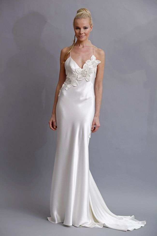 elizabeth fillmore silk charmeuse wedding dress in 2019 Elizabeth Fillmore Wedding Dress