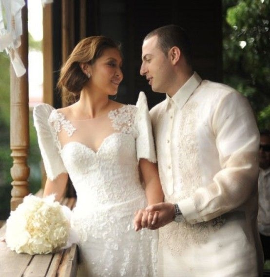 filipiniana inspired butterfly sleeves wedding dress and Filipiniana Wedding Dress