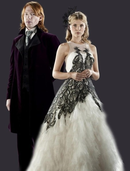 fleur delacour with bill weasley promo fleur delacour Fleur Delacour Wedding Dress