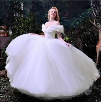 gorgeous princess cinderella fairy tale wedding dresses puffy bridal ball gowns ebay Fairy Tail Wedding Dresses
